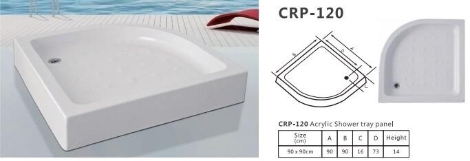 CRP-120 ACRYLIC SHOWER TRAY PANEL