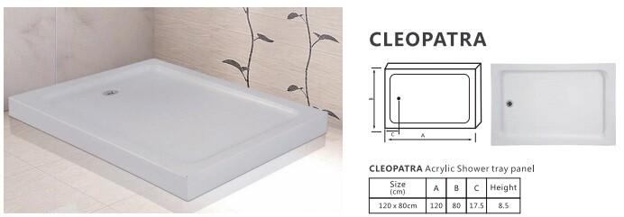 CLEOPATRA ACRYLIC SHOWER TRAY PANEL