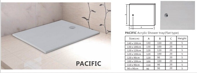 PACIFIC ACRYLIC SHOWER TRAY PANEL