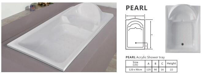 PEARL ACRYLIC SHOWER TRAY PANEL