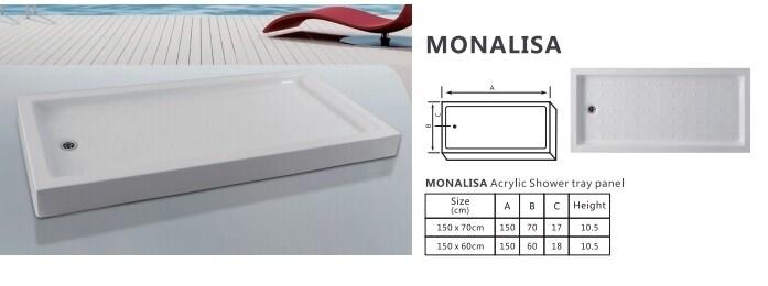 MONALISA ACRYLIC SHOWER TRAY PANEL