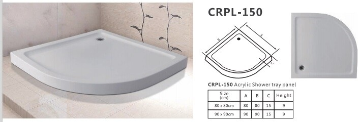 CRPL-150 ACRYLIC SHOWER TRAY PANEL