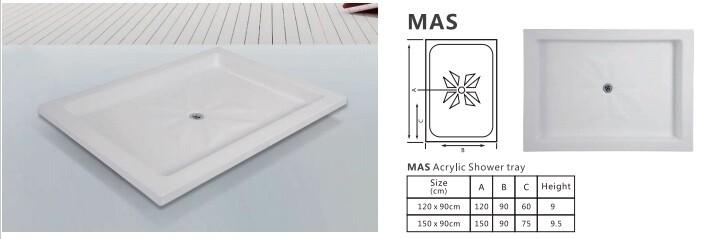 MAS ACRYLIC SHOWER TRAY PANEL