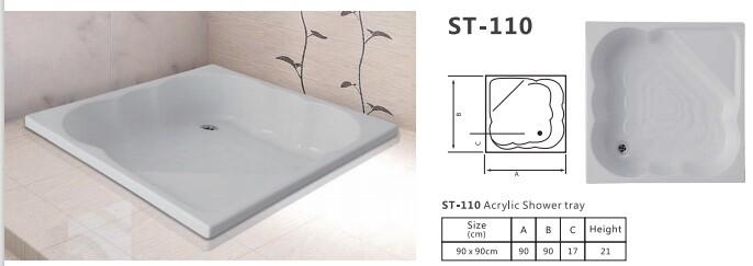 ST - 110 ACRYLIC SHOWER TRAY PANEL