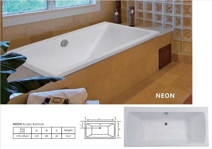Neon Acrylic Bathtub