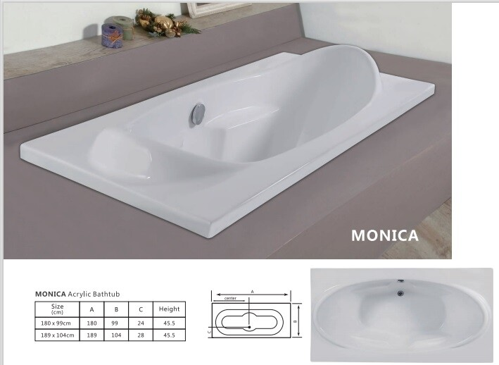 Monica Acrylic Bathtub