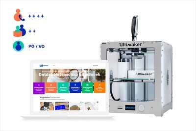 3Dkanjers 3D-Discovery Basic - inclusief Ultimaker 2+ 3D-printer (PO, VO)