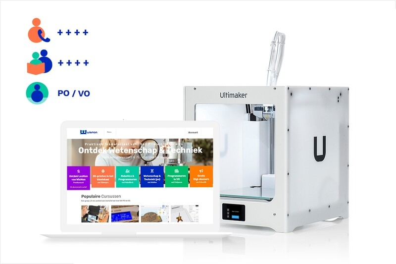 3Dkanjers 3D-Discovery Uitgebreid - inclusief Ultimaker 2+ Connect 3D-printer (VO)