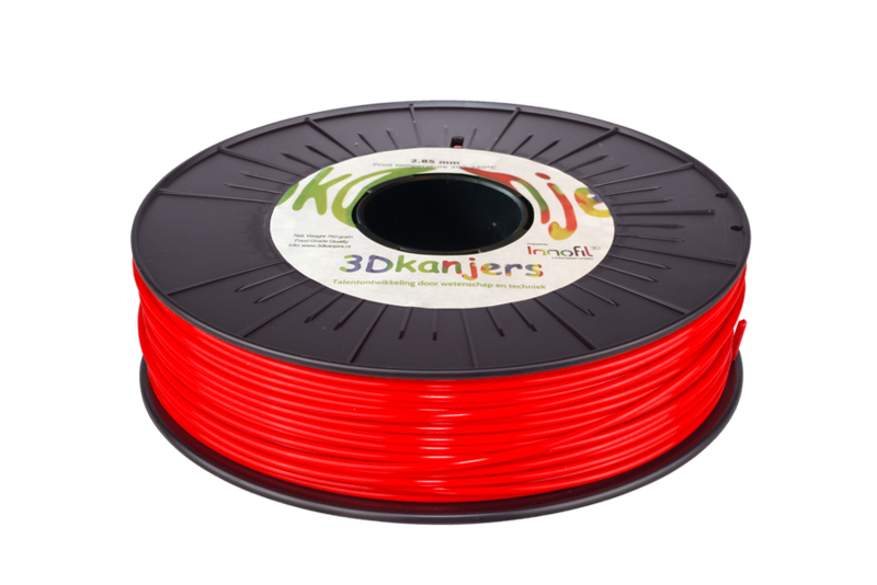 3Dkanjers PLA-Filament Rood