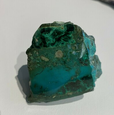Beautiful gem chryscolla and crystalline malachite specimen