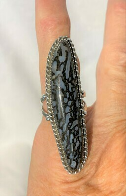 Contemporary Dino bone ring