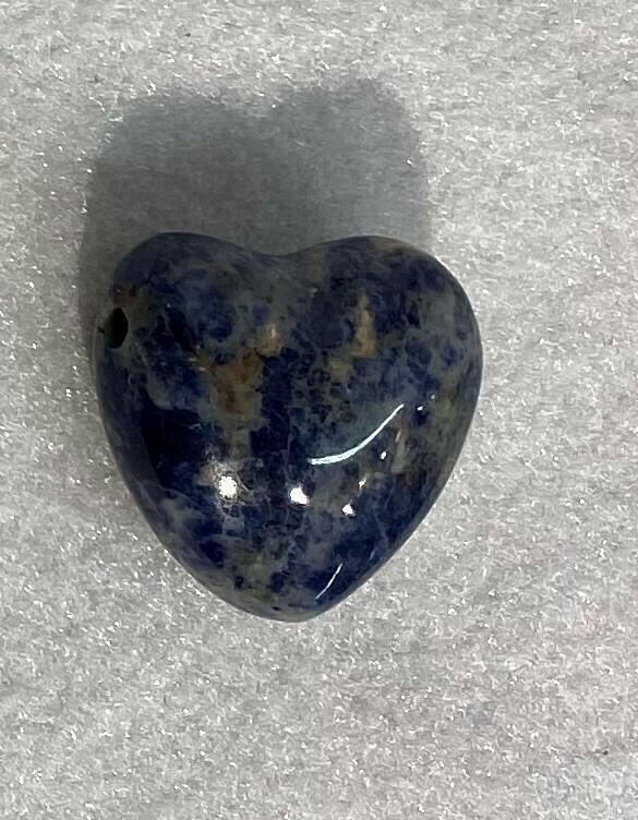 Blue Sodalite drilled heart