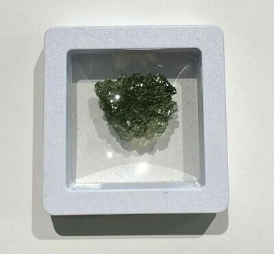 Translucent Moldavite specimen