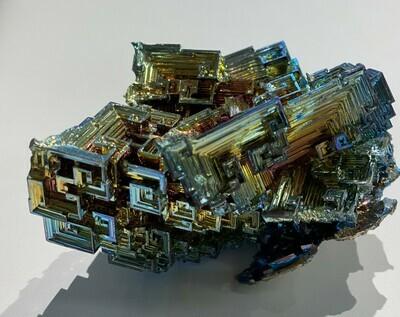 large bismuth sculpture