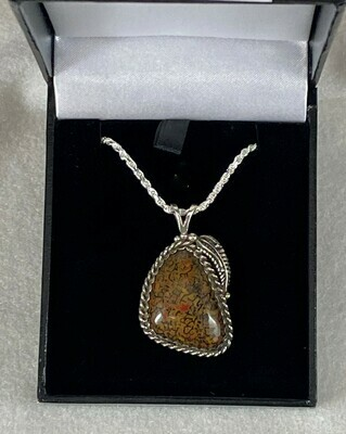 Beautiful multicolor gem bone pendant