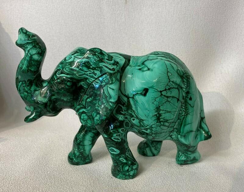 Meduim Malachite Elephant