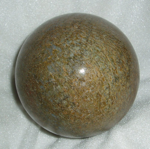Beautiful tan and blue dino bone sphere