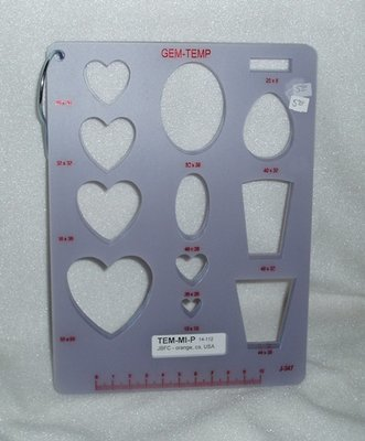 GEM-TEMP template for cabochons or wood blanks