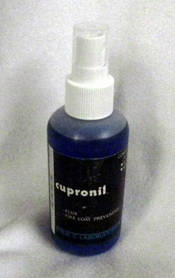 Cupronil flux and fire coat preventive
