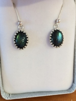 SOLD Beautiful Labradorite and sterling earrings!!