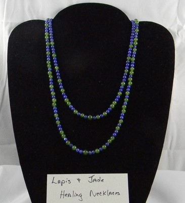 Jade and lapis healing necklaces