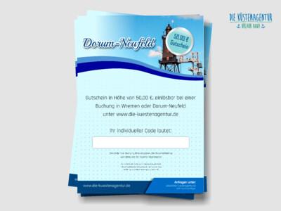Übernachtungsgutschein für Dorum-Neufeld: 50,00 EUR