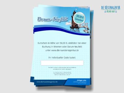 Übernachtungsgutschein für Dorum-Neufeld: 100,00 EUR