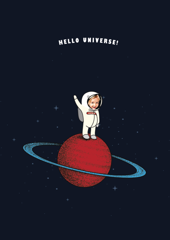 'Hello Universe' Portrait