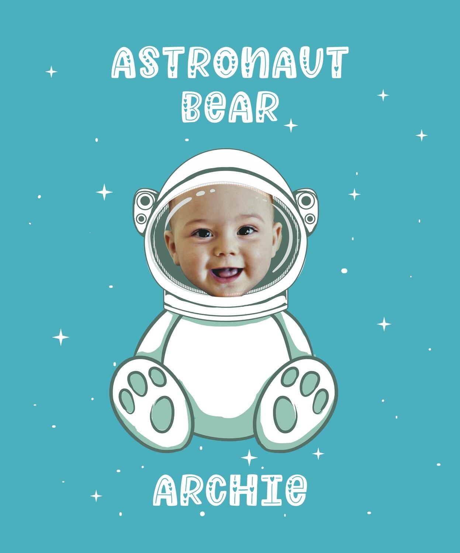 Astronaut Bear Wall Art