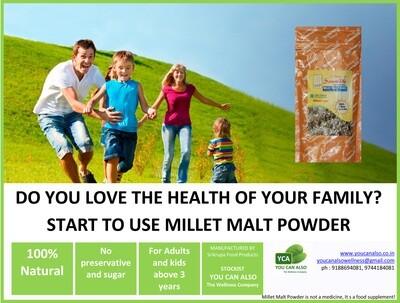 SAMRUDDHI HIGH NUTRITIONAL MILLET MALT POWDER - (Without Sugar)