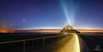 Le Mont Saint-Michel, Vénus et Jupiter