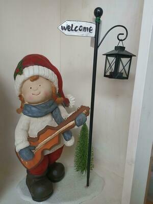 Bimba suonatrice Welcome
