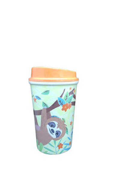 Faultier Bambus Coffee-To-Go-Becher