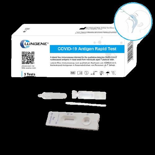 Clungene Antigen Schnelltest mit Laienzulassung - 5er Pack
