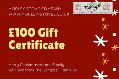 Morley Stove £100 gift voucher