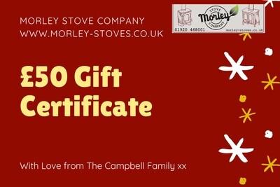 Morley Stove £50 gift voucher
