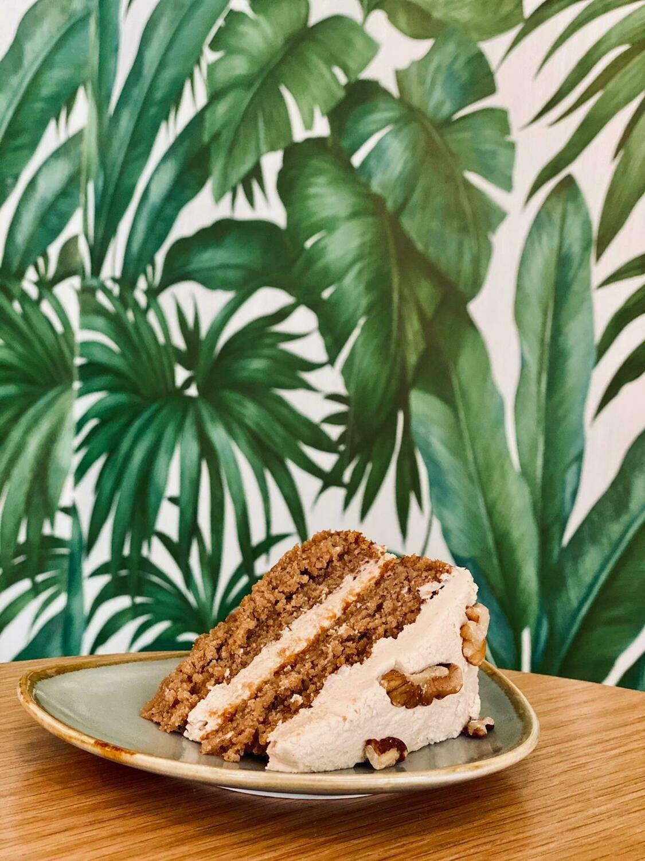 Mudlarks Coffee and Walnut Cake - vegan & gluten-free