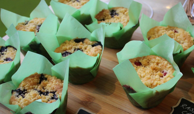 Mudlarks Vegan Blueberry Muffins