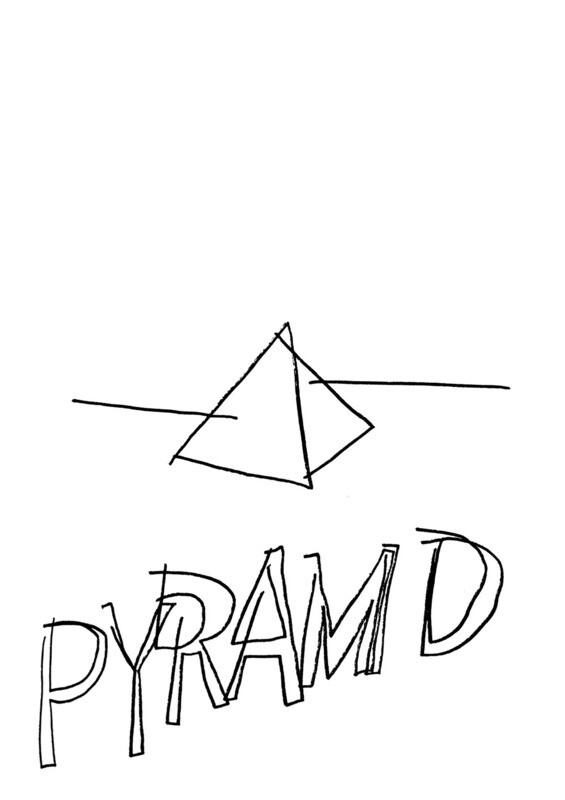 Dessin sans regarder d'une pyramide