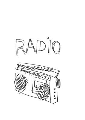 Dessin sans regarder d'une radio
