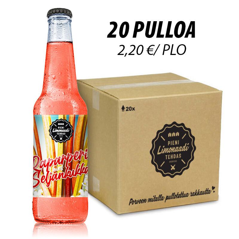 Raparperi-Seljankukka - 20 pullon laatikko