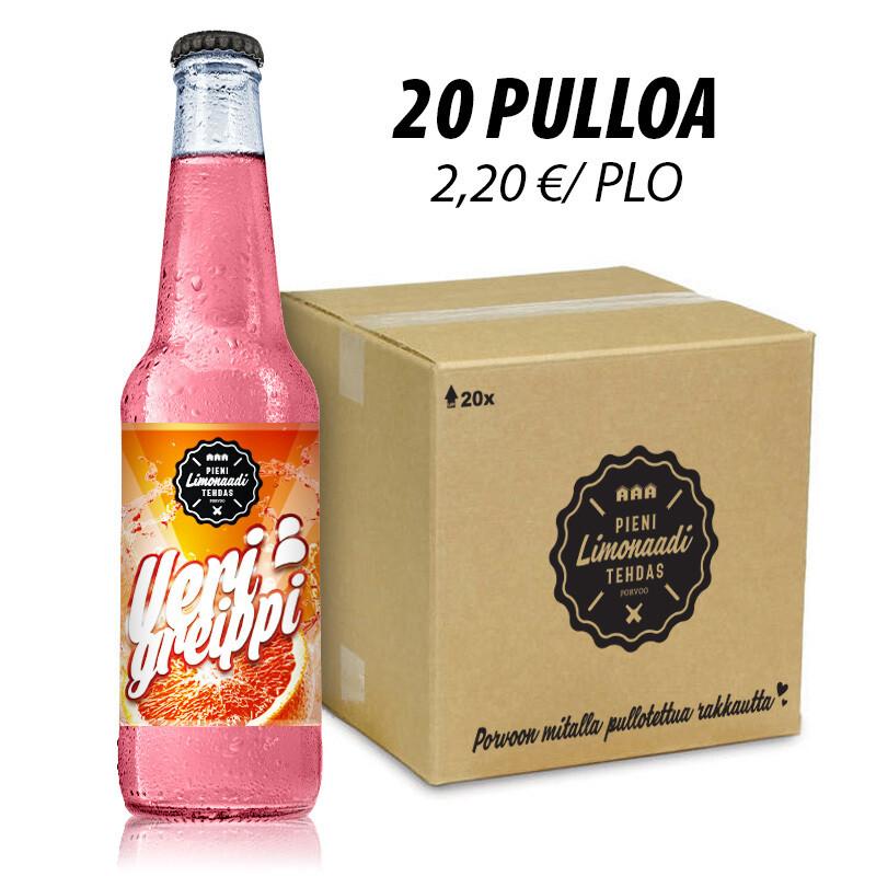 Verigreippi - 20 pullon laatikko
