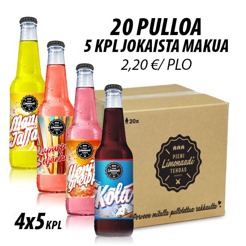 Maistelulaatikko - 20 pulloa