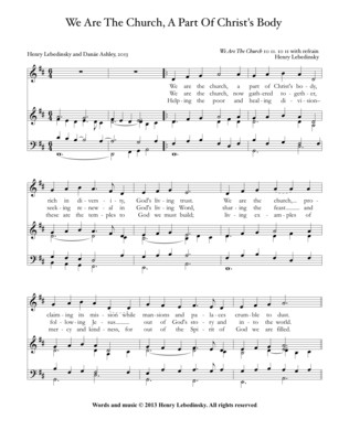 HYMN We Are The Church (unison, organ) full accompaniment