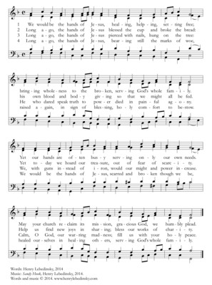 HYMN We Would Be the Hands of Jesus (harmony)