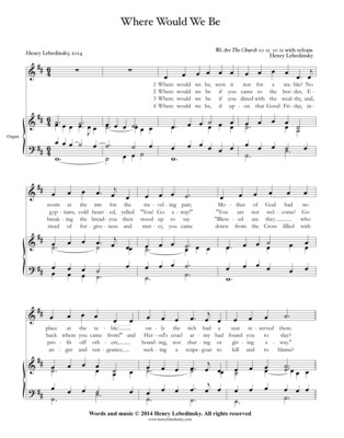 HYMN Where Would We Be - full accompaniment