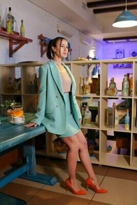 Жакет с юбкой из твида
