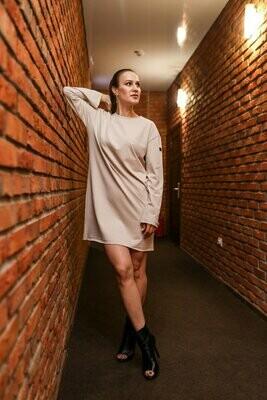 Платье с необработанным низом