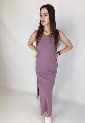 Платье длинное из кулирки