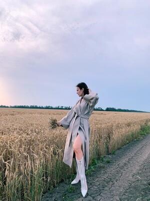Платье-кимоно длинное